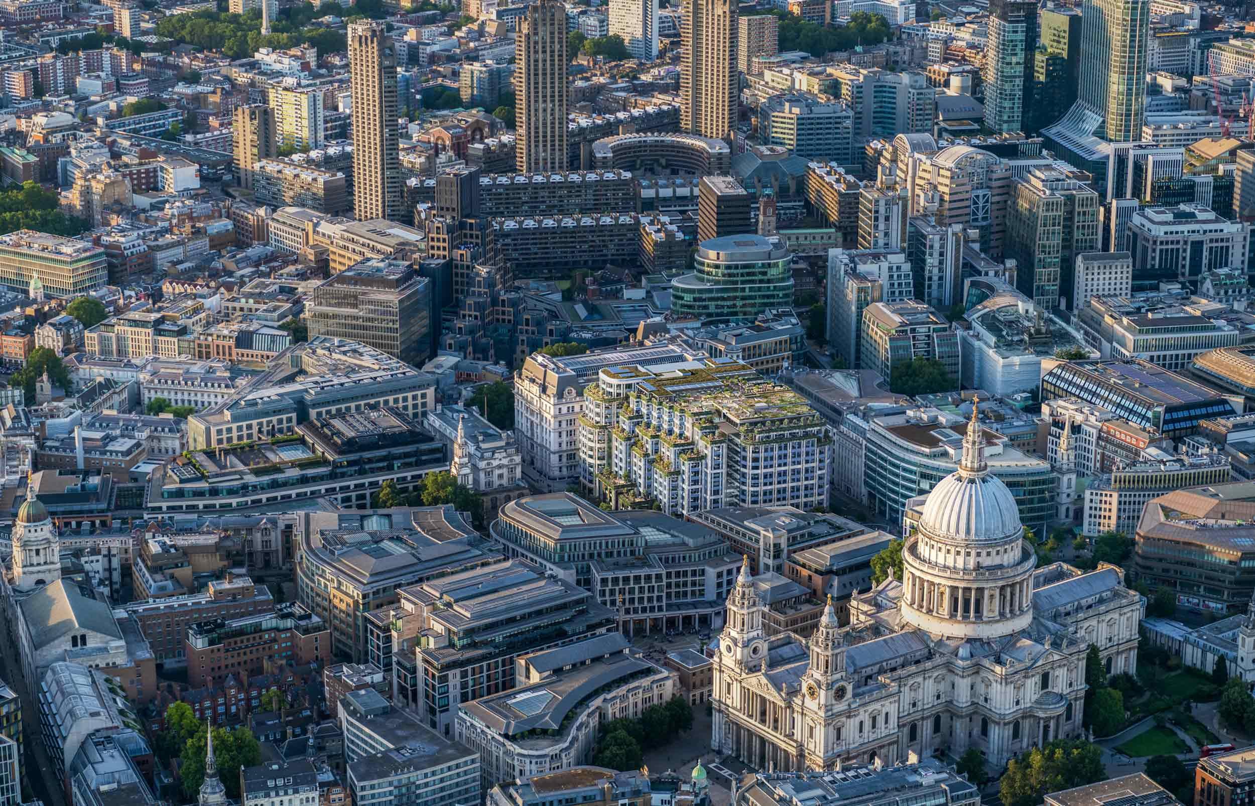 Aerial render of 81 Newgate Street